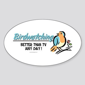 Birdwatching Sticker (Oval)