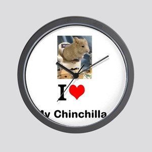 Chinchilla in a Chair Wall Clock
