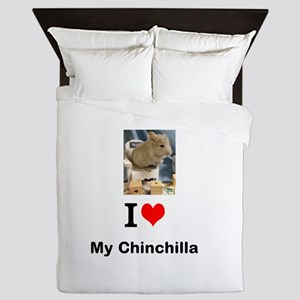 Chinchilla in a Chair Queen Duvet
