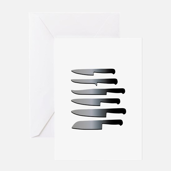 Kitchen Knives Greeting Cards