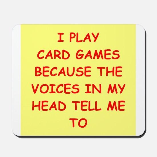 card games Mousepad