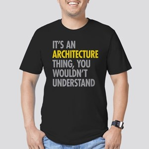 Its An Architecture Th Men's Fitted T-Shirt (dark)