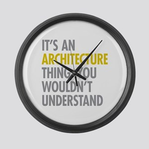 Its An Architecture Thing Large Wall Clock