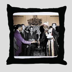 Selassie Meeting Throw Pillow
