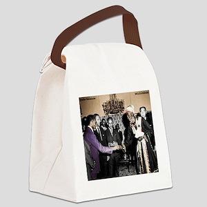 Selassie Meeting Canvas Lunch Bag