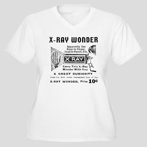 X-Ray Wonder Women's Plus Size V-Neck T-Shirt