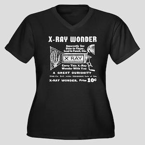 X-Ray Wonder Women's Plus Size V-Neck Dark T-Shirt