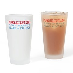 Powerlifting Powerlifter Drinking Glass