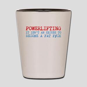 Powerlifting Powerlifter Shot Glass