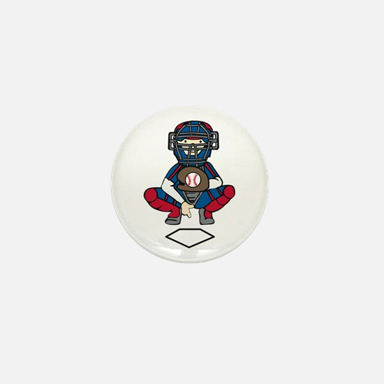 Baseball Catcher Mini Button