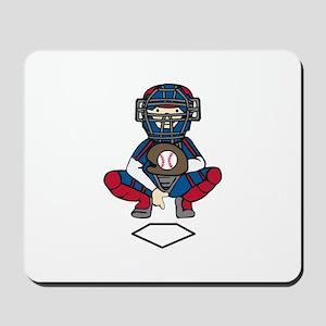 Baseball Catcher Mousepad