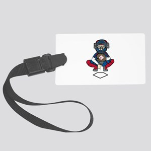 Baseball Catcher Luggage Tag