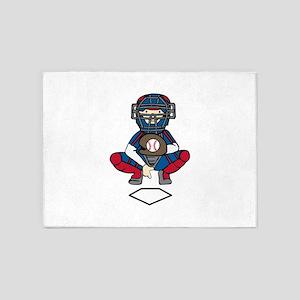 Baseball Catcher 5'x7'Area Rug