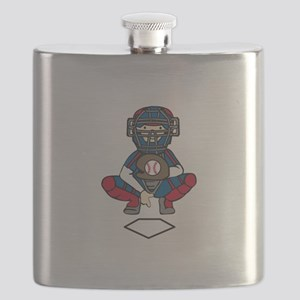 Baseball Catcher Flask