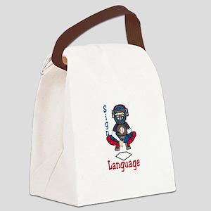 Sign Language Canvas Lunch Bag