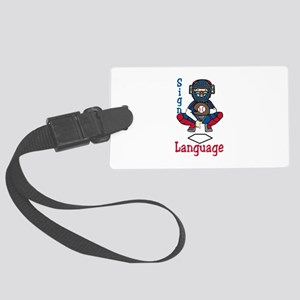 Sign Language Luggage Tag