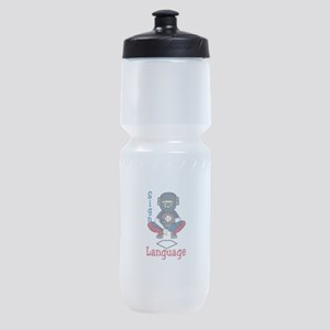Sign Language Sports Bottle