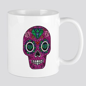 pink glitter sugar skull Mugs