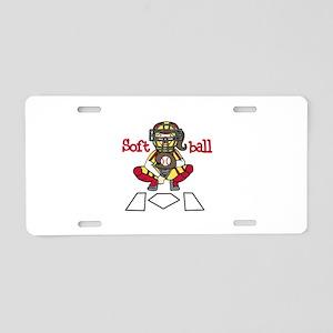 Catch Softball Aluminum License Plate