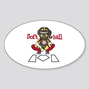 Catch Softball Sticker