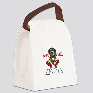 Catch Softball Canvas Lunch Bag