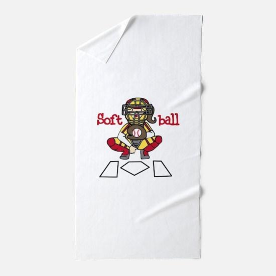 Catch Softball Beach Towel