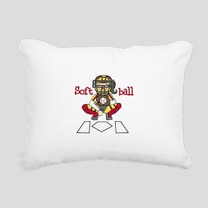Catch Softball Rectangular Canvas Pillow