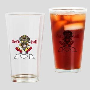 Catch Softball Drinking Glass