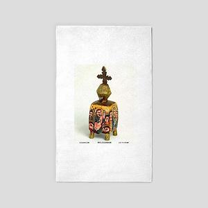 Ethiopian Orthodox Figure 3'x5' Area Rug