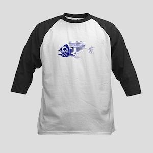 Blue Boney Fish Baseball Jersey