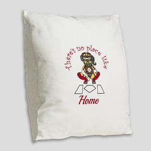 No Place Like Home Burlap Throw Pillow