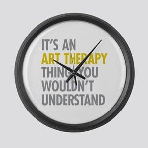 Its An Art Therapy Thing Large Wall Clock