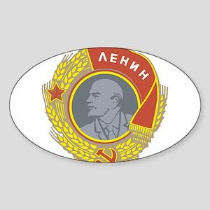 V Lenin Oval Sticker