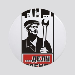 Workers Unite! Ornament (Round)
