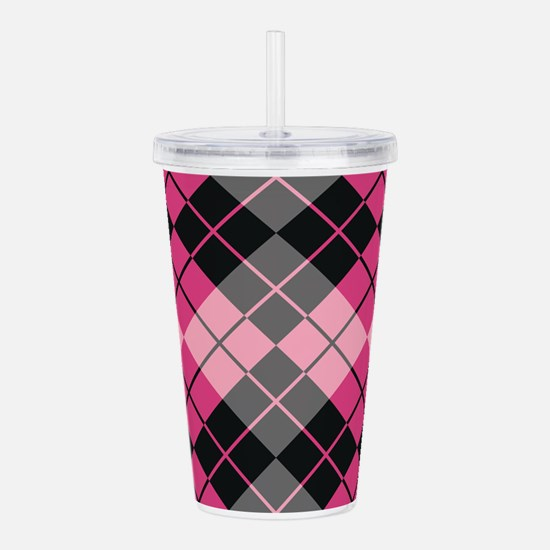 Unique Argyle Acrylic Double-wall Tumbler