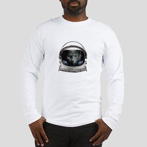 Space Helmet Astronaut Cat Long Sleeve T-Shirt