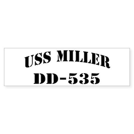 USS MILLER Sticker (Bumper)