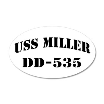 USS MILLER 20x12 Oval Wall Decal
