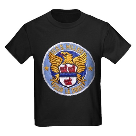 USS MILLER Kids Dark T-Shirt