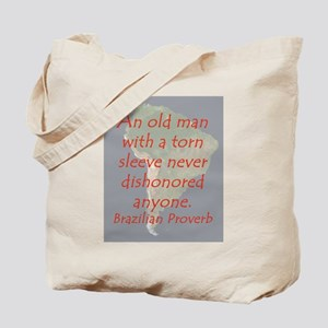 An Old Man With a Torn Sleeve Tote Bag