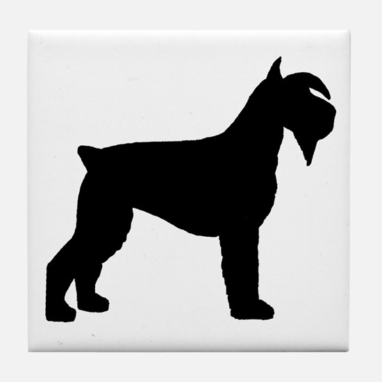 Schnauzer Dog Tile Coaster