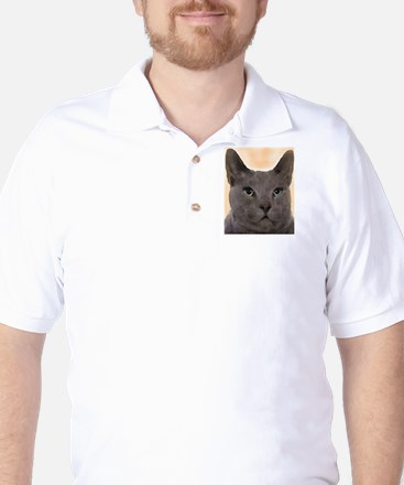 Russian Blue Cat Golf Shirt