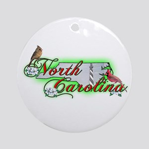 North Carolina Ornament (Round)