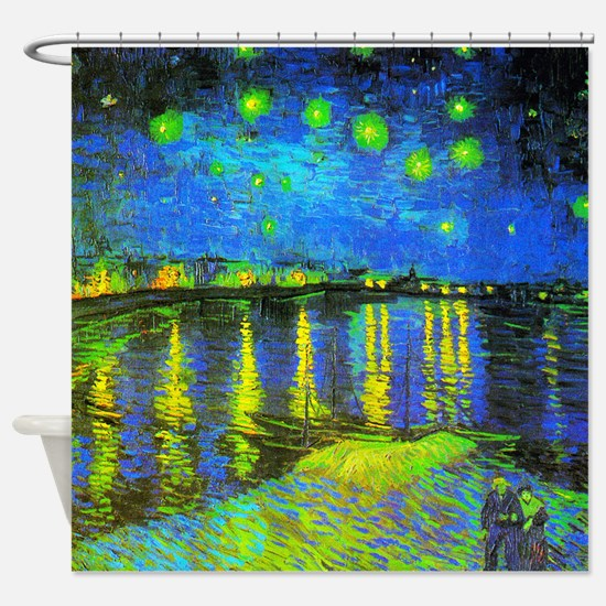 Van Gogh Starry Night Over The Shower Curtain