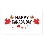 Happy Canada Day Rectangle Sticker