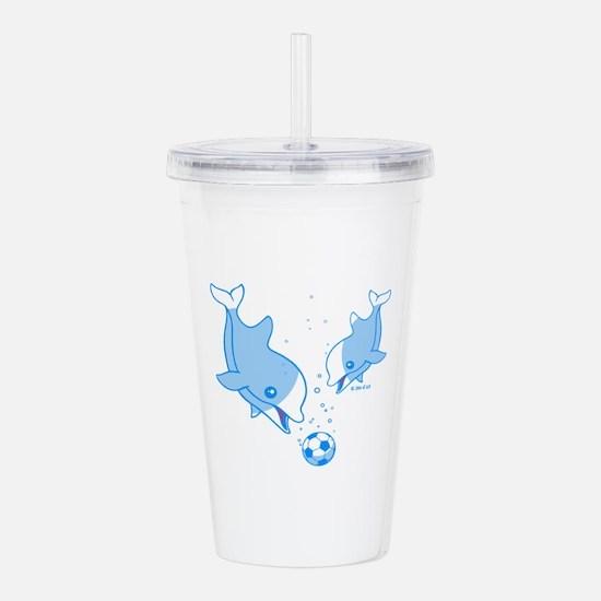 Soccer Dolphins (blue) Acrylic Double-wall Tumbler