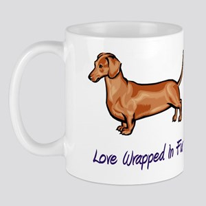 Dachsund - Love Wrapped In Fur Mug