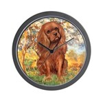 Spring and Ruby Cavalier Wall Clock