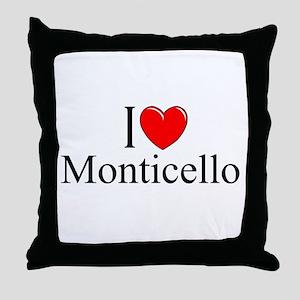 """""""I Love Monticello"""" Throw Pillow"""