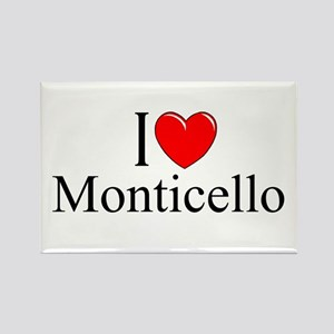 """I Love Monticello"" Rectangle Magnet"